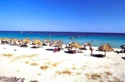 The beautiful white beach