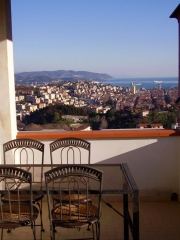 Panoramic view from the terrace of the Byron apartment