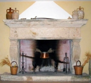 Fireplace of the studio