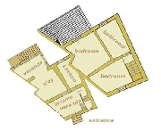 Plan of Sottili apartment