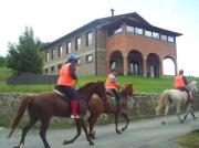 Ausritt auf Pferden