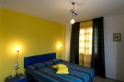 Blue-yellow double room