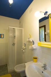 Bath of the  blue-yellow room
