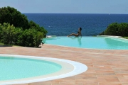 The Swimming Pool with sea view