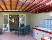 Pergola with kitchen and barbecue