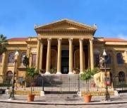 The Massimo theatre nearby