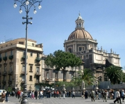 The centre of Catania