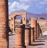 Die Ausgrabungsstaette von Pompeji