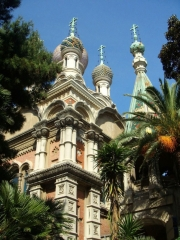 The Russian church in Sanremo
