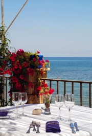 Terrace of the Restaurant with sea view