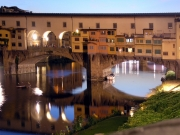 Panoramic view of the Arno river in Florence