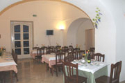 Sorrento Accommodation: Dining hall of the Religious House La Culla in Sorrento