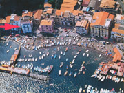 The bird's eye view of Marina Grande apartment and its fishermen's village