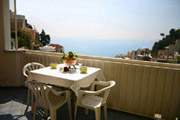 Meersicht vom Balkon der Ferienwohnung Colomba n° 6 in Positano aus