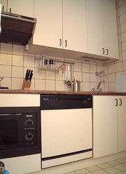 Rome Apartments: The fully equipped kitchen of Babuino Apartment in Rome