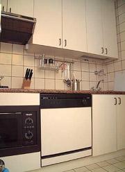 Rom Ferienwohnung: Die voll ausgestattete Küche der Ferienwohnung Babuino in Rom