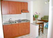 Die Küche der Wohnung Colomba n° 6 in Positano