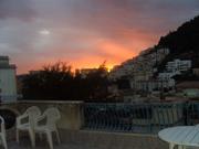 Vista splendida di notte dal terrazzo dell'appartamento di Papavero