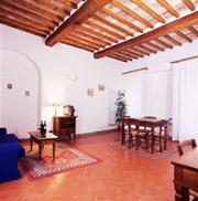 Living room of Florio apartment in San Gimignano