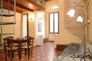 Florenz Stadtzentrum Ferienwohnung: Wohn- und Esszimmer der Ferienwohnung Tafi im Stadtzentrum von Florenz