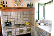Suite in Sorrento: The kitchen of Suite Alimuri in Sorrento
