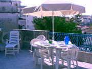 Terrazzo dell'appartamento di Papavero