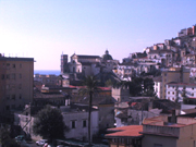Beautiful view of the town and cathedral from the terrace of the Papavero Apartment