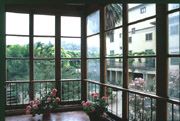 Large window of Contessa Maria Luisa apartment in Florence