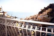 Apartment Amalfiküste: Meersicht vom kleinen Balkon des Apartments Ludovica Typ D aus an der Amalfiküste