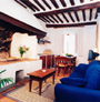 Living room of Il Camino apartment in San Gimignano