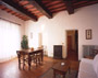 Living room of Porta San Matteo apartment in San Gimignano