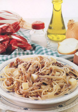 SPAGHETTI WITH CHICORY